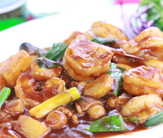 Stir-Fry Jumbo Shrimp without Shell
