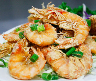 Prawns Fried Salted with Head