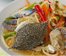 021.  Papaya Salad with Salted Crab