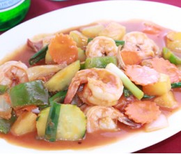 Thai Sweet & Sour Jumbo Shrimp