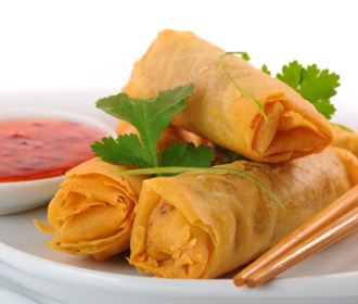 710.  Spring Egg Rolls Vegetable Half Order
