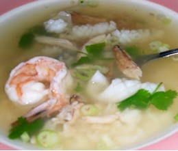 Rice Soup with Seafood