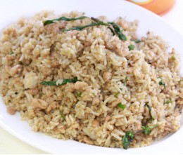 211 Chopped Chicken Fried Rice with Chili and Mint