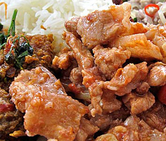 Pork Garlic Pepper Sauce o/Rice