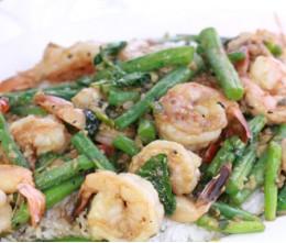 Jumbo Shrimp w/Green Beans o/Rice
