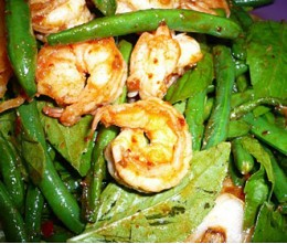 Jumbo Shrimp and Green Beans