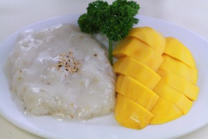 Kung Fu Thai Chinese Restaurant in Las Vegas Thai Yellow Mango with Sticky Rice Coconut Cream