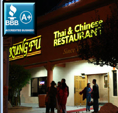 Las Vegas Restaurants Kung Fu Thai Chinese Restaurant Bbb A Plus Rating