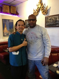 Michael Moorer Loves Thai Food In Las Vegas