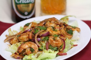 Thai Spicy Shrimp Salad at Kung Fu Restaurant Las Vegas