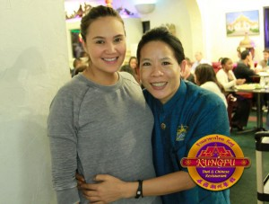 Thai pop star Tata Young In Las Vegas Chinatown Restaurant Kung Fu Thai & Chinese