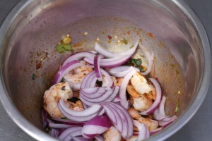 Thai Grill Shrimp in Roasted chili dressing