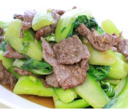 Beef with Chinese Bok Choy