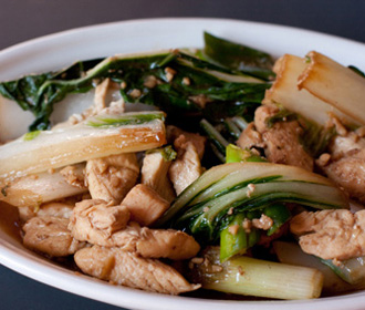 Chicken with Chinese Bok Choy