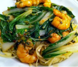 Jumbo Shrimp w/Bok Choy