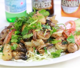 Seafood in Garlic Pepper Sauce