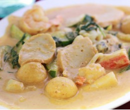 530.  Pa-Nang Seafood Combination Curry
