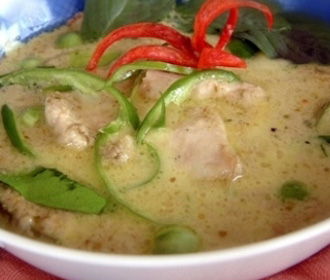 Sweetened Green Curry Pork
