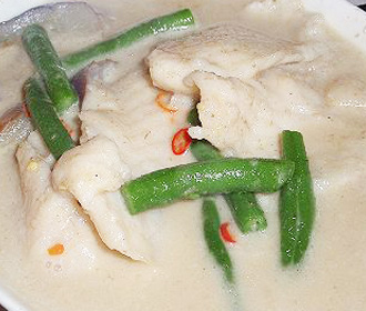 Sweetened Green Curry Fish Fillet