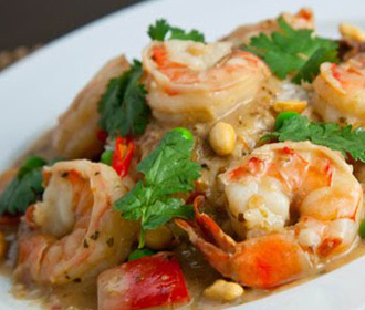 547.  Shrimp w/Dry Hot Red Peppers