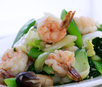 579. Jumbo Shrimp Mixed Vegetables Stir Fry
