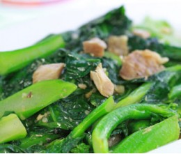 Chinese Broccoli w/Salted Fish Chunks