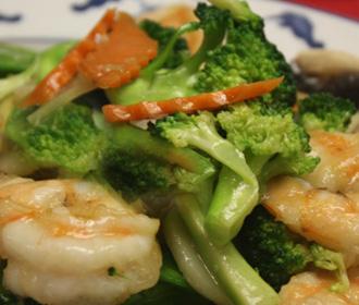 353.  Jumbo Shrimp & Broccoli