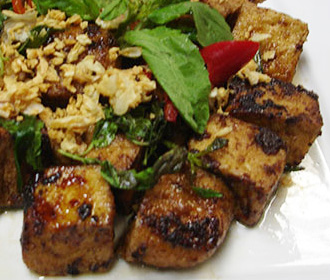Tofu in Chili & Mints