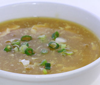 how to add egg to a soup