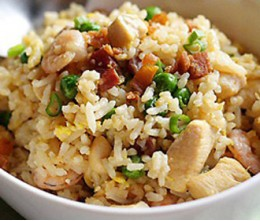 Fried Rice with Salted Fish and Chinese Broccoli