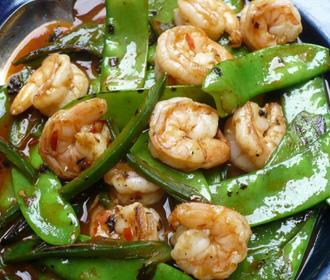 410. Chinese Peapods w/Jumbo Shrimp