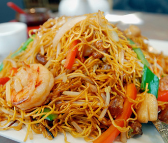 165.  Seafood Chow Mein