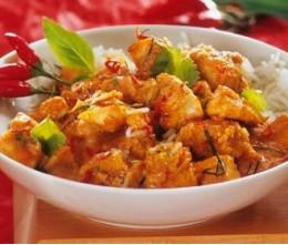 Chicken Garlic Pepper Sauce o/Rice