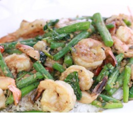Jumbo Shrimp w/Green Beans o/Rice