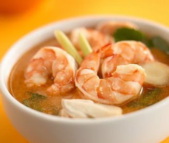 106. Jumbo Shrimp Tofu Soup